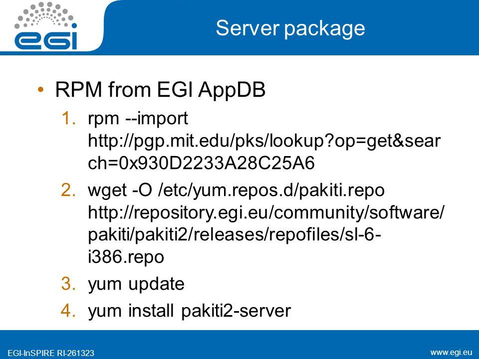 EGI-InSPIRE RI EGI-InSPIRE EGI-InSPIRE RI Pakiti  - ppt download