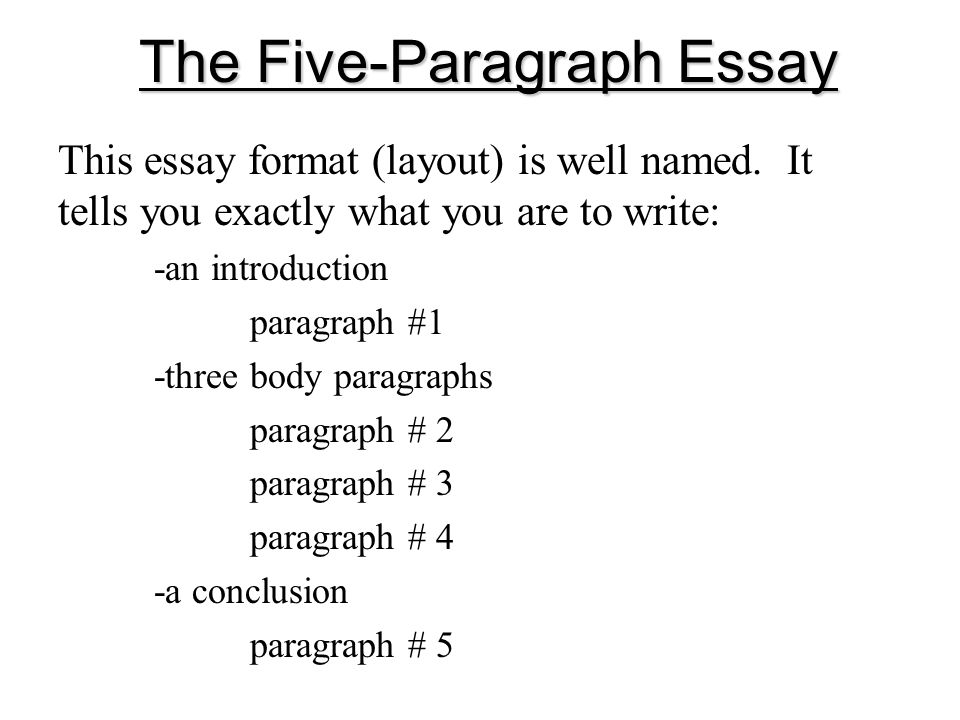 Planning A FiveParagraph Essay Part A The Introduction Part B The