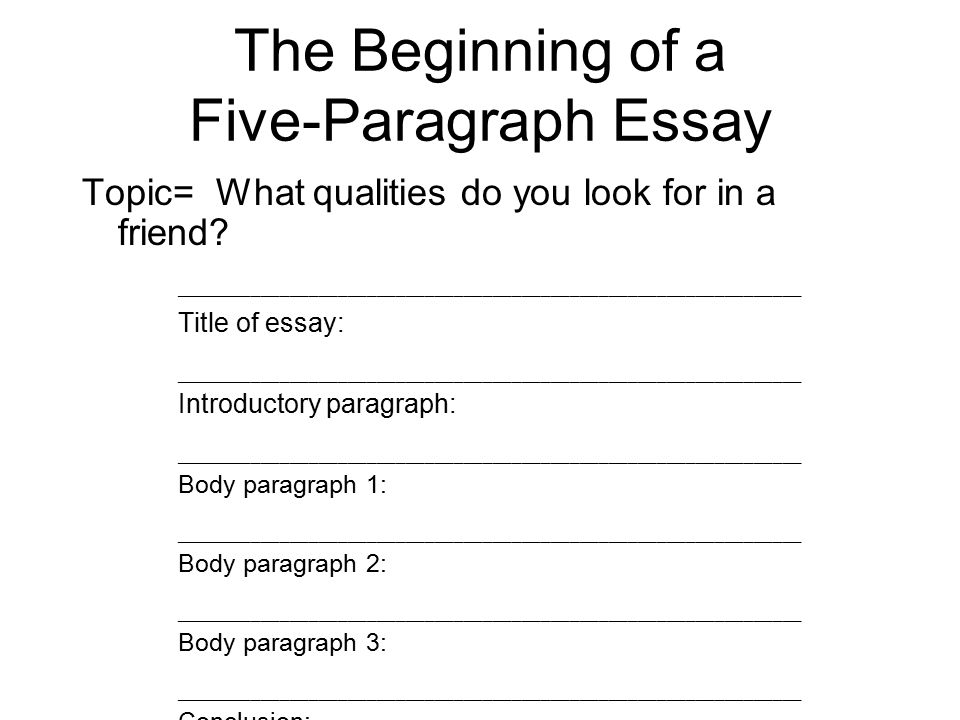 Planning A Fiveparagraph Essay Part A The Introduction Part B The  The Beginning Of A Fiveparagraph Essay Topic What Qualities Do You Look  For Essay Examples High School also Technical Writing On Custom Writings  Finding Someone To Write College Material