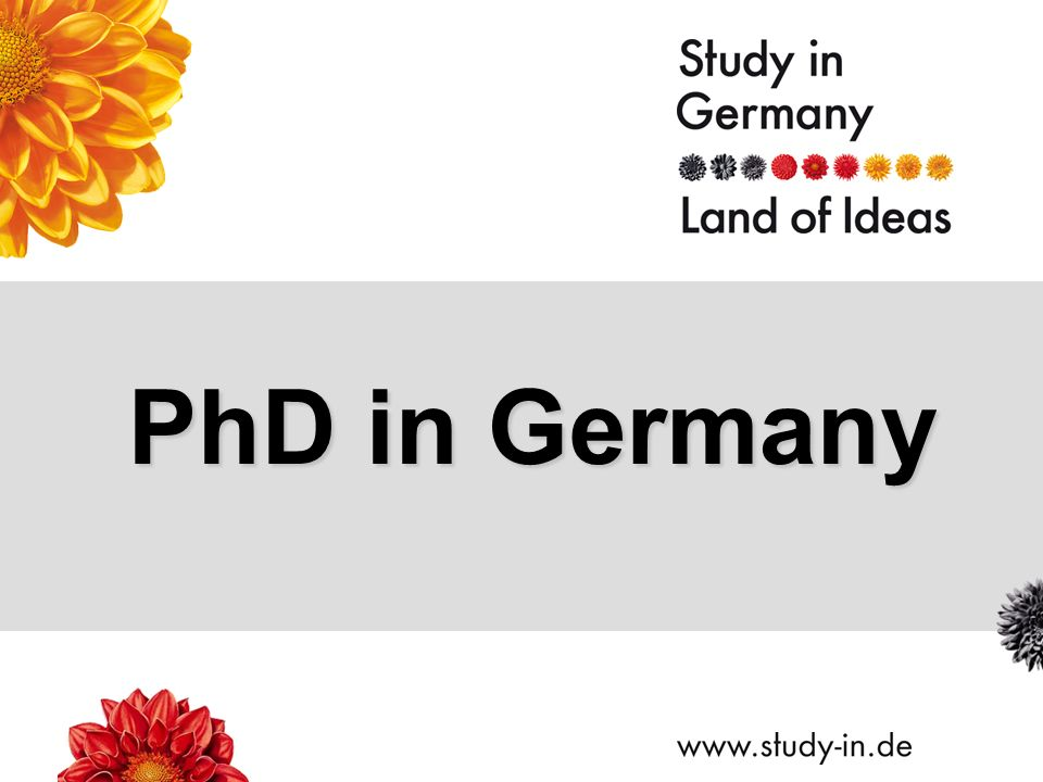 PhD in Germany  Title of Presentation | Seite 2 Why Germany