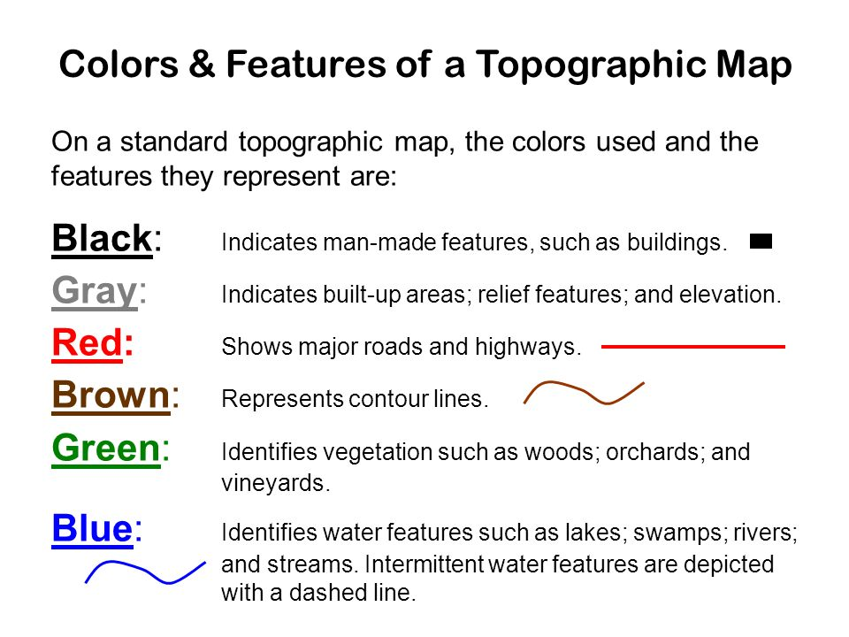 1 4 Topographic Maps. Let's take a walk up a hill!   ppt download
