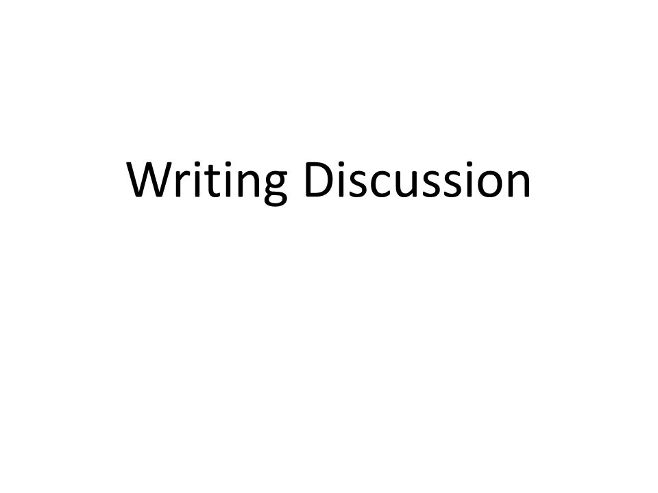 writing a discussion paper