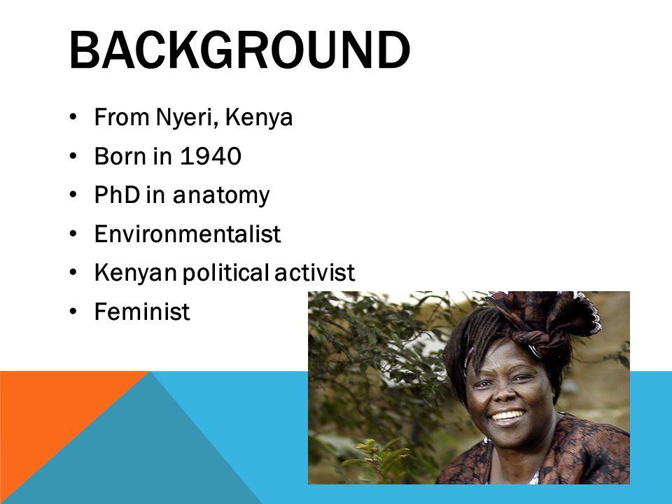 Wangari Maathai Meeree Orlandini Km Barnett Gayoung Jeong Ppt