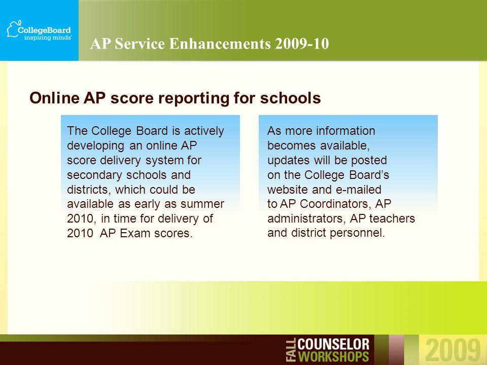 PSAT/NMSQT ® SAT ® Break AP ® Services for Students with