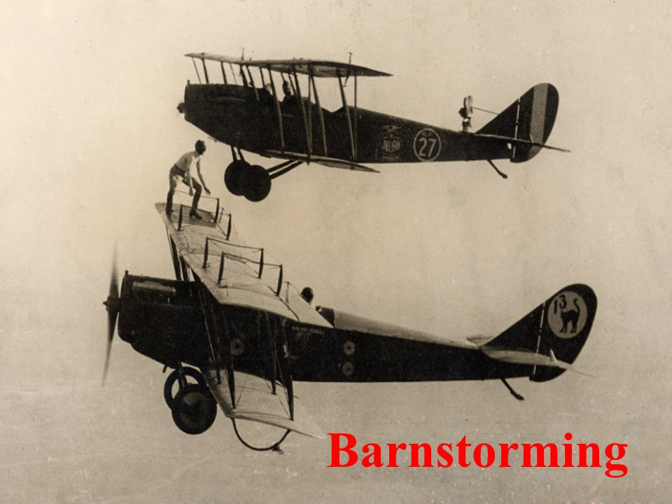Barnstorming  Objectives Know the barnstormers Know the major