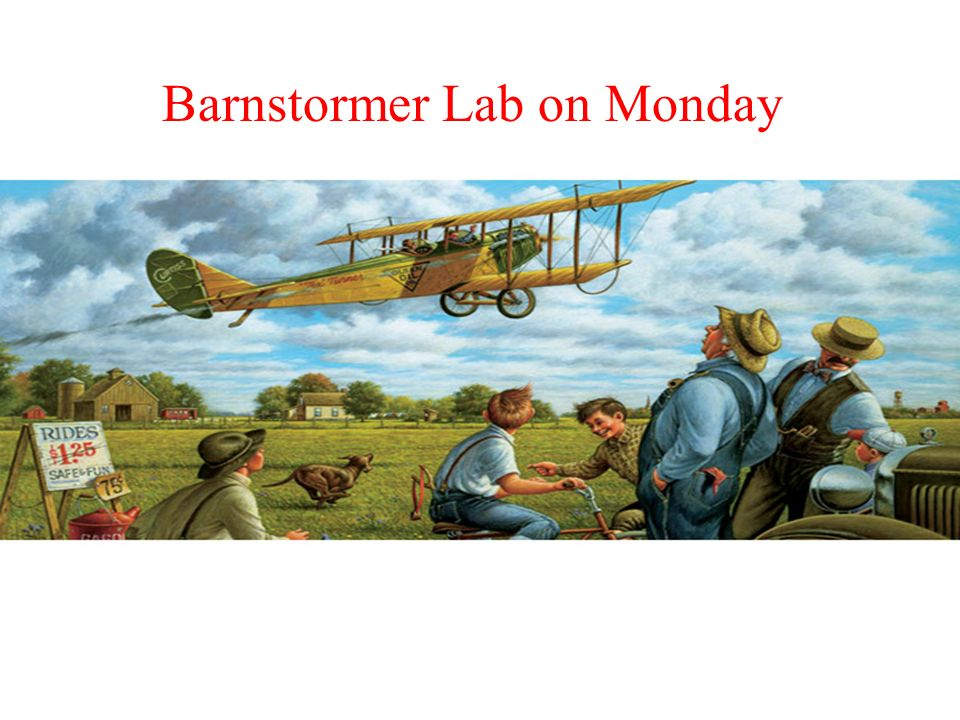 Barnstorming  Objectives Know the barnstormers Know the