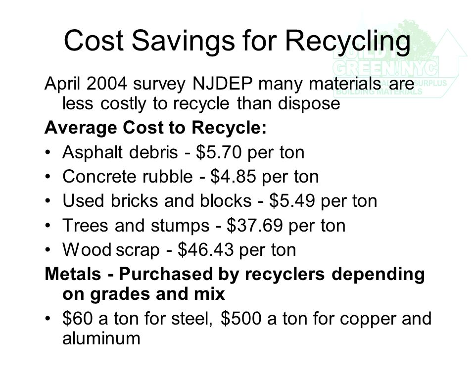 Recycling and Reuse Policy for C&D Waste Justin Green