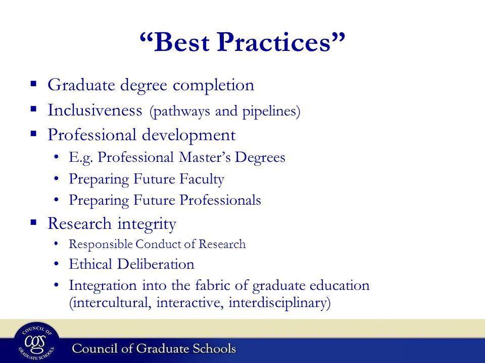 Organization, Administration, and Improvement of Graduate Education ...