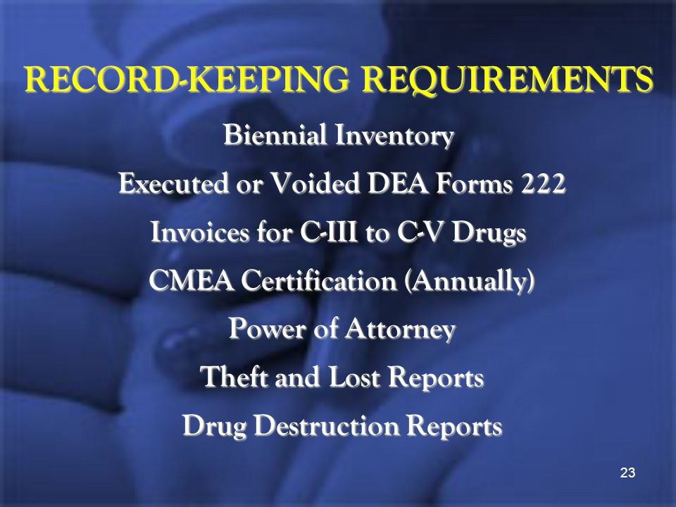 How To Survive A Dea Inspection Series Maintaining Your Pharmacys