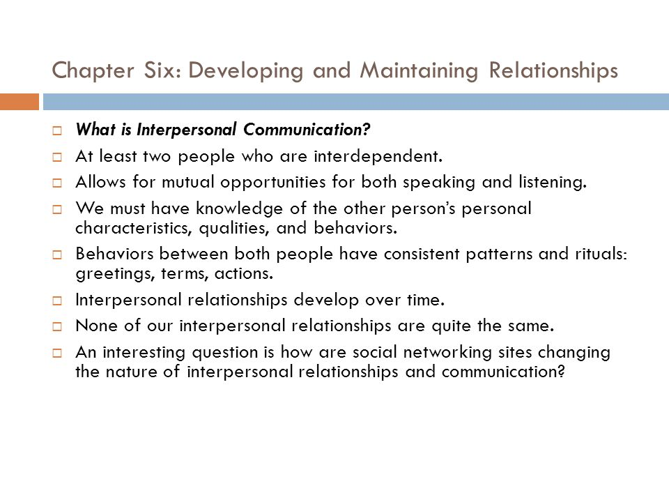 six characteristics of communication