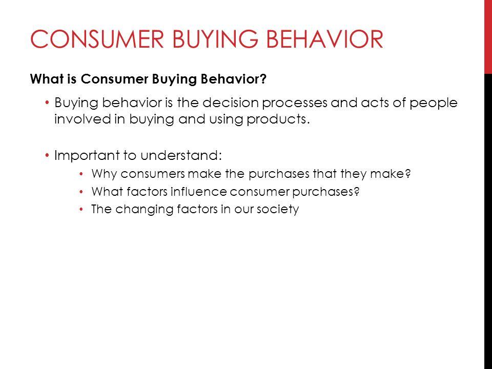 importance of consumer buying behaviour