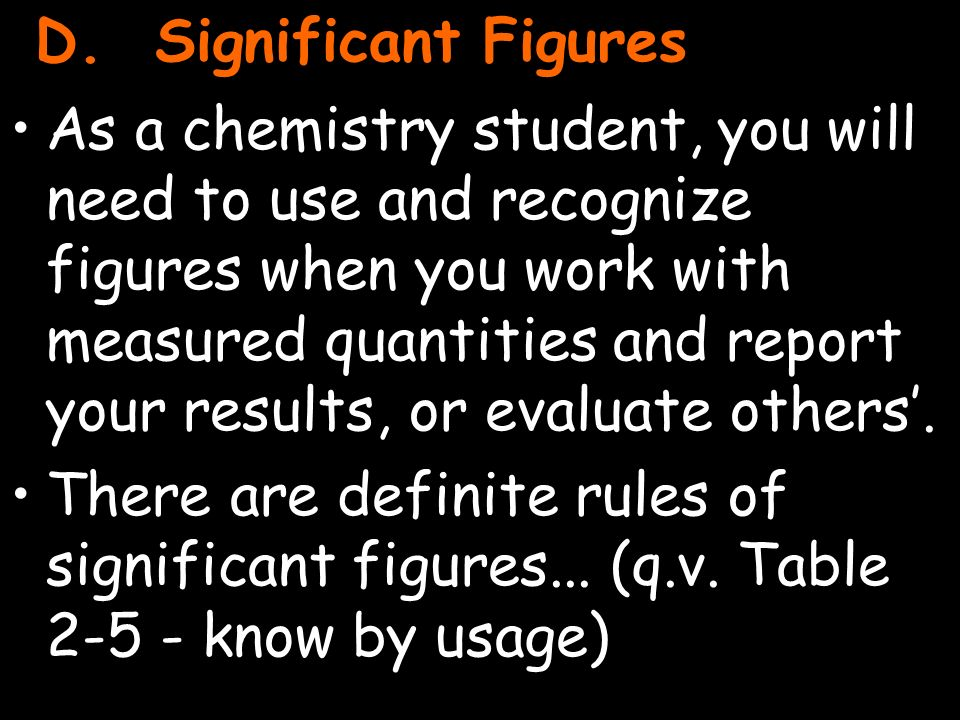 20 As a chemistry student, you will need to use and recognize figures when you work with measured quantities and report your results, or evaluate others'.
