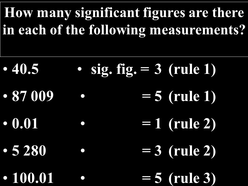 22 How many significant figures are there in each of the following measurements.