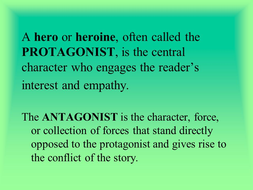 Character a person presented in a dramatic or narrative work