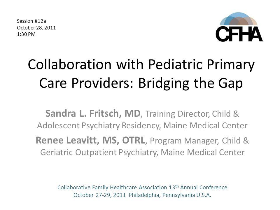 Collaboration with Pediatric Primary Care Providers