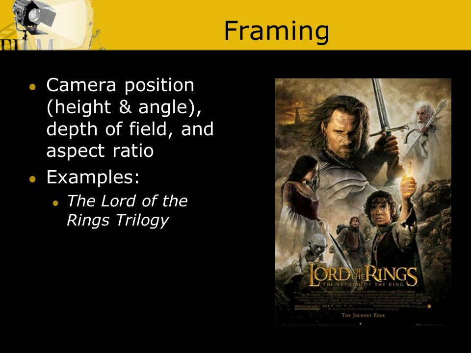 lord of the rings camera angles