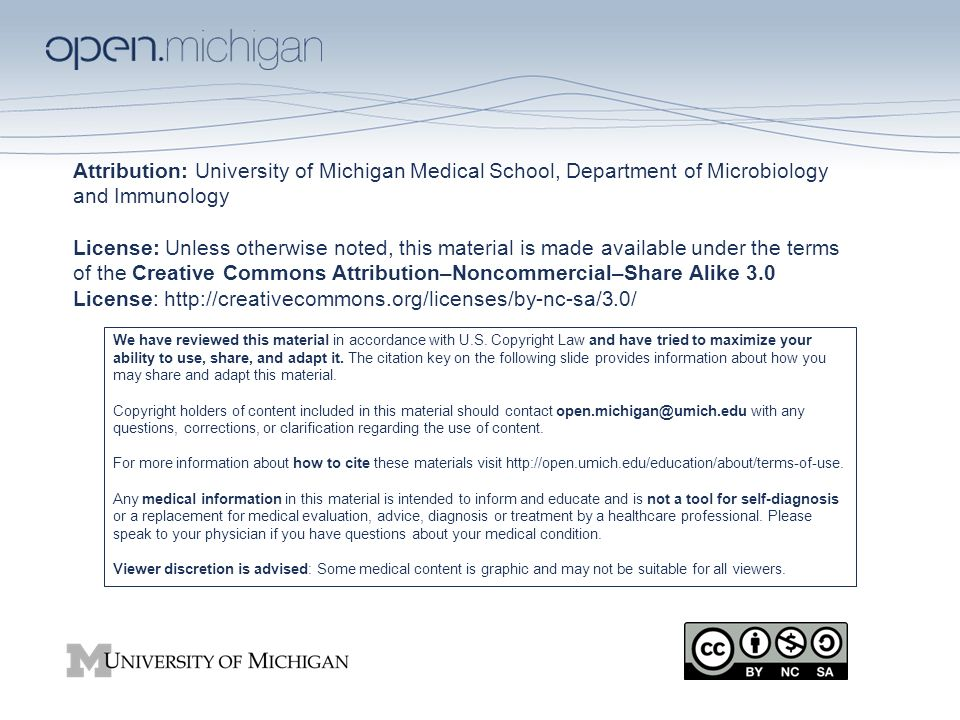 attribution: university of michigan medical school, department of