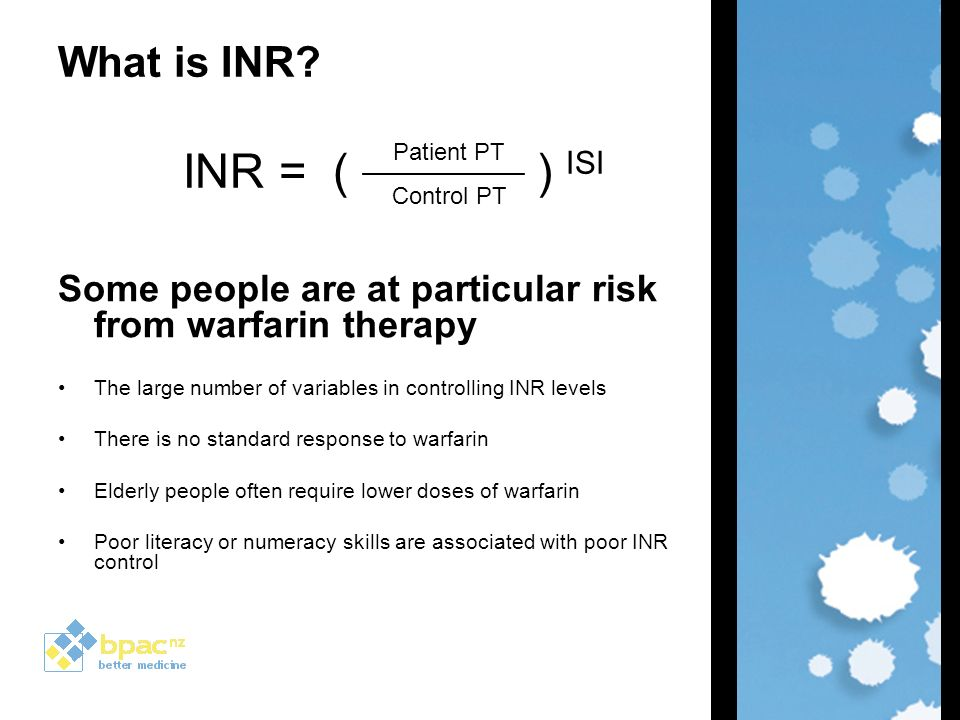 Inr For Warfarin Monitoring Bpac Nz