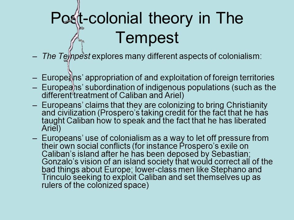 the tempest exposes the issue of colonialism english literature essay Heart of darkness colonialism essay  imperialism and colonialism in shakespeare´s the tempest  highlighting the issue of neo-colonialism through media and.