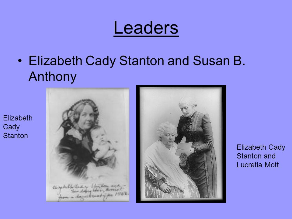 Leaders Elizabeth Cady Stanton and Susan B.
