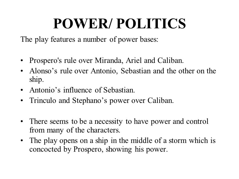 power in the tempest