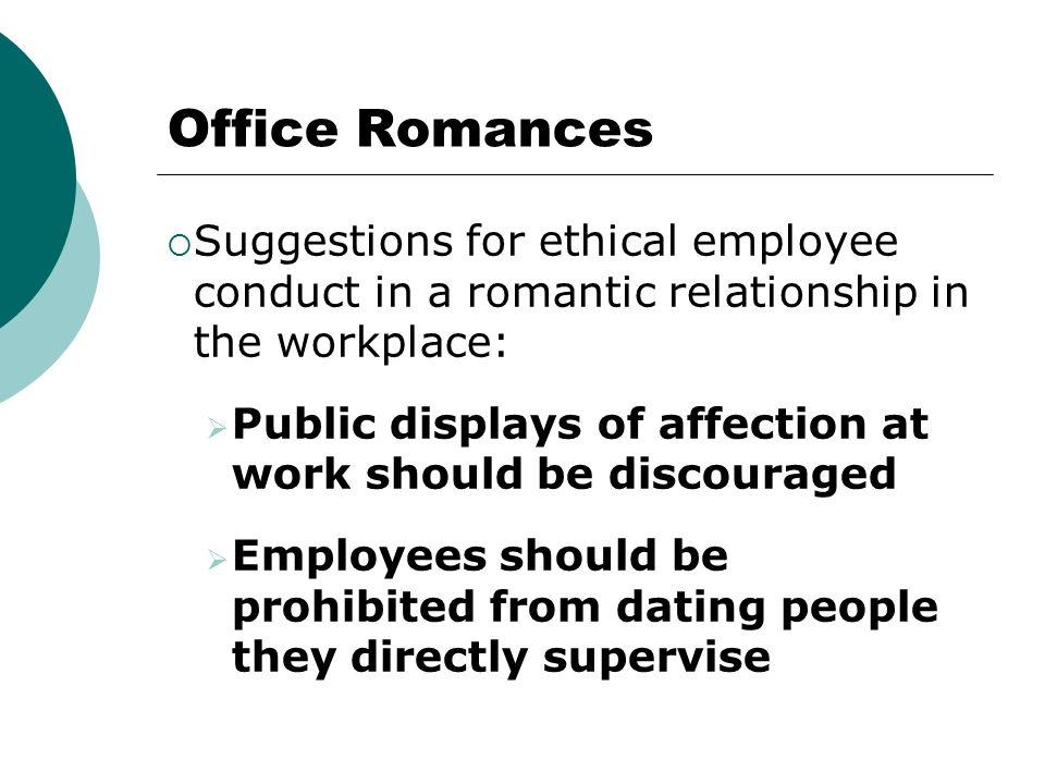 Ethical workplace dating