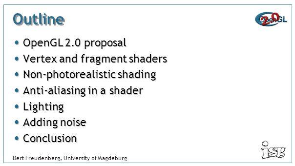 A Non-Photorealistic Fragment Shader in OpenGL 2 0 Bert Freudenberg