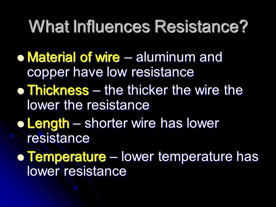 What is Resistance. The opposition to the flow of an electric current.