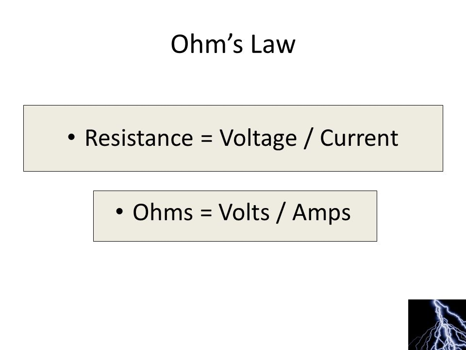 Difference between Volts and Amps Example – you could say that… – Ampshow much – Amps measure how much water comes out of a hose.