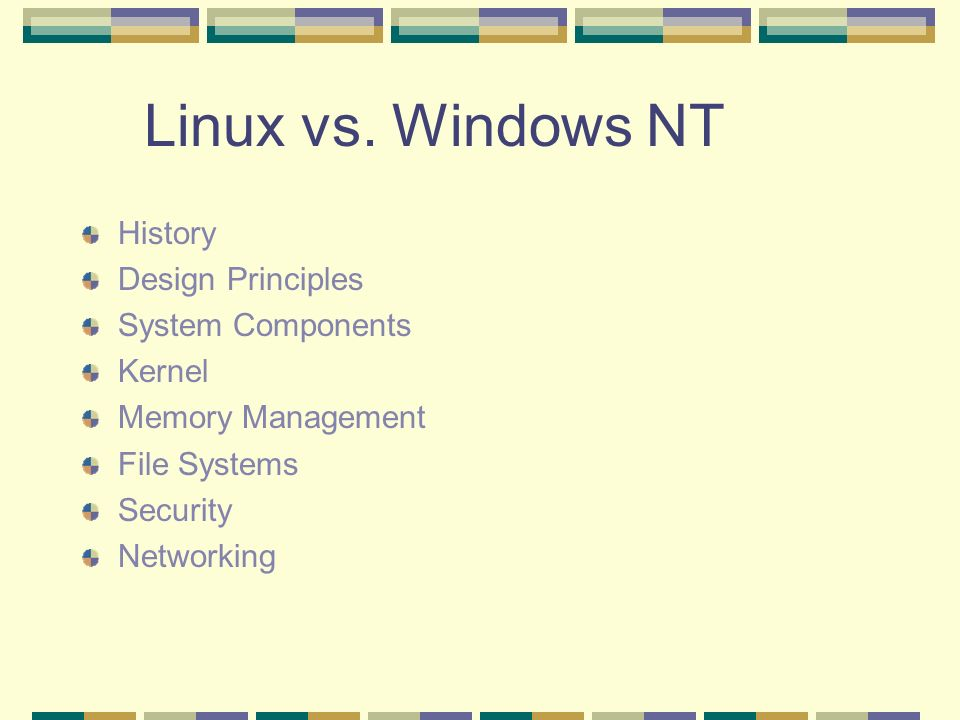Linux vs  Windows NT Rehana Shrestha  Linux vs  Windows NT
