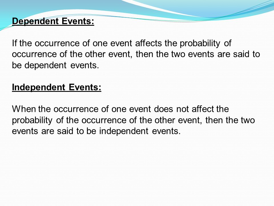 Probability Some Important Terms Event An Is One Or More Of. Dependent Events If The Occurrence Of One Event Affects Probability. Worksheet. Worksheet A3 Single Event Probability At Clickcart.co