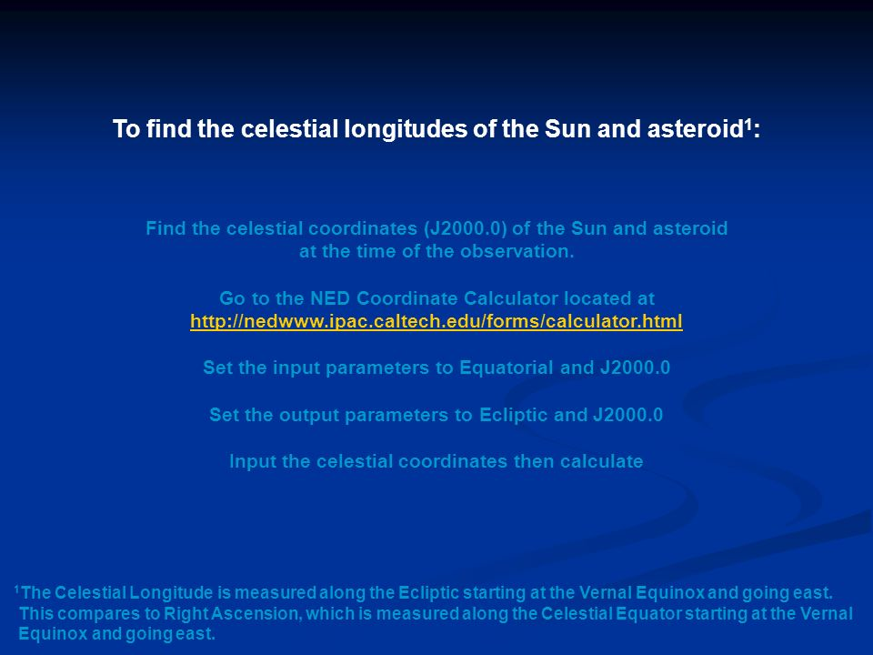 ESTIMATING DISTANCES OF ASTEROIDS Using the Worldwide
