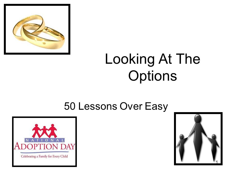 1 Looking At The Options 50 Lessons Over Easy
