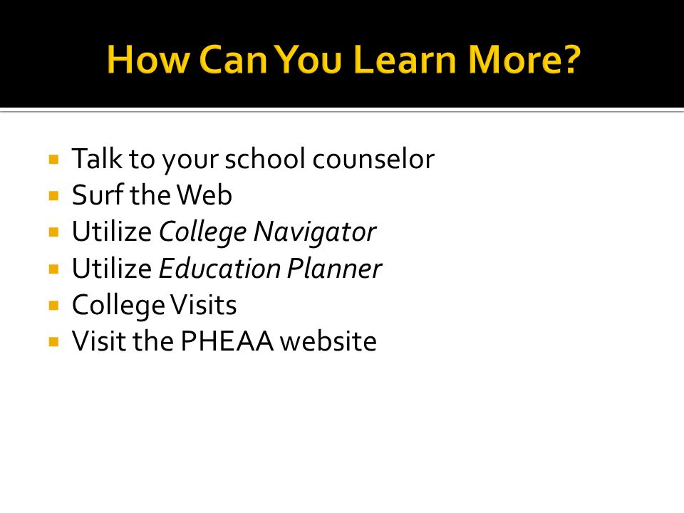 helpful hints to consider during your college search ppt download