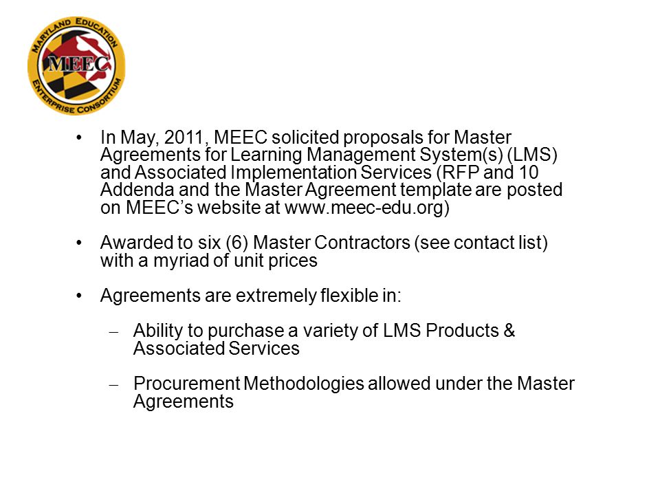 Learning Management Systems Lms Master Agreements 90936