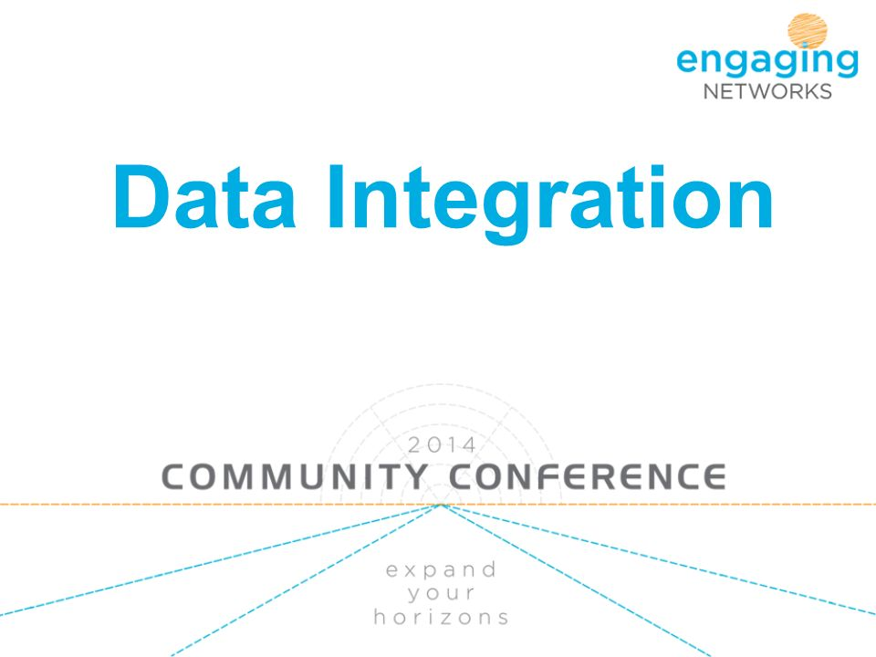 Data Integration  What we will cover Scenarios Export API - Pull or
