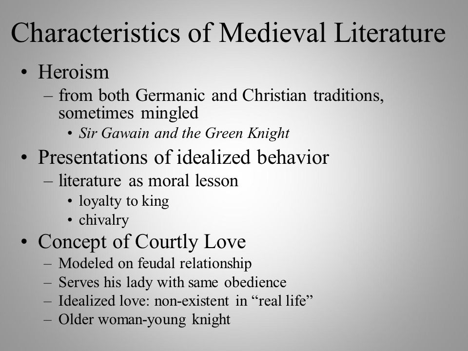 courtly love in medieval literature