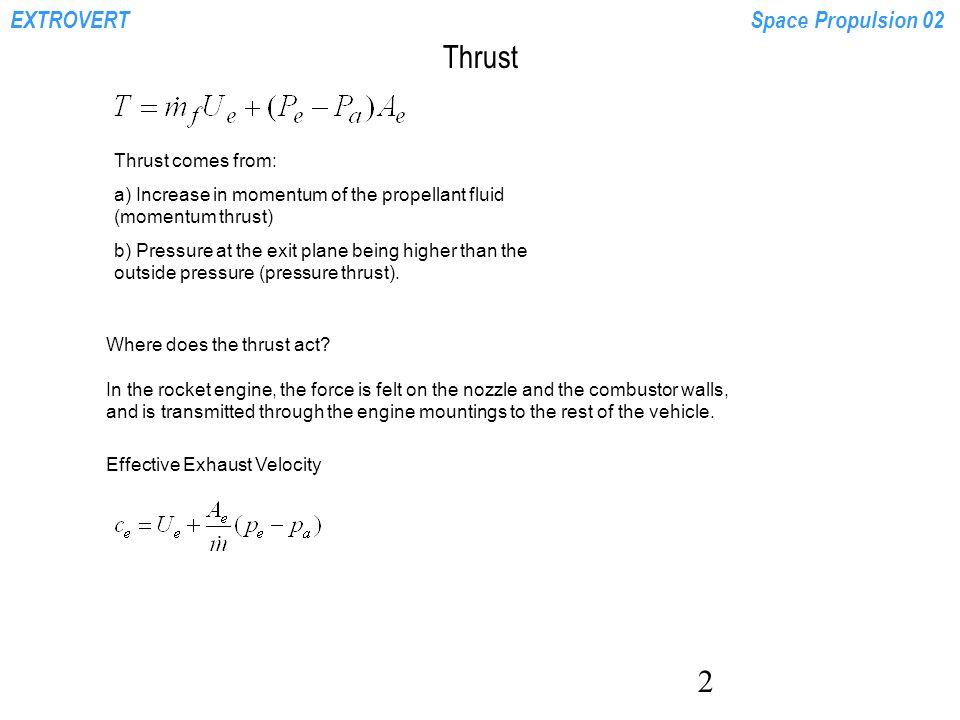 Extrovertspace Propulsion 02 1 Thrust Rocket Equation Specific Impulse Mass Ratio Ppt Download