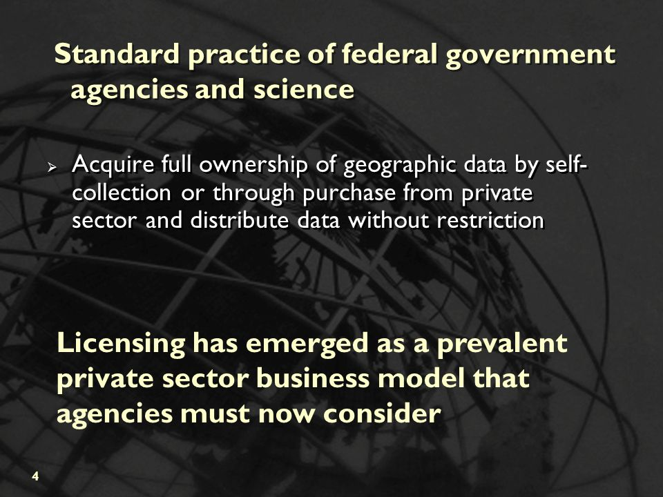 Licensing Geographic Data and Services