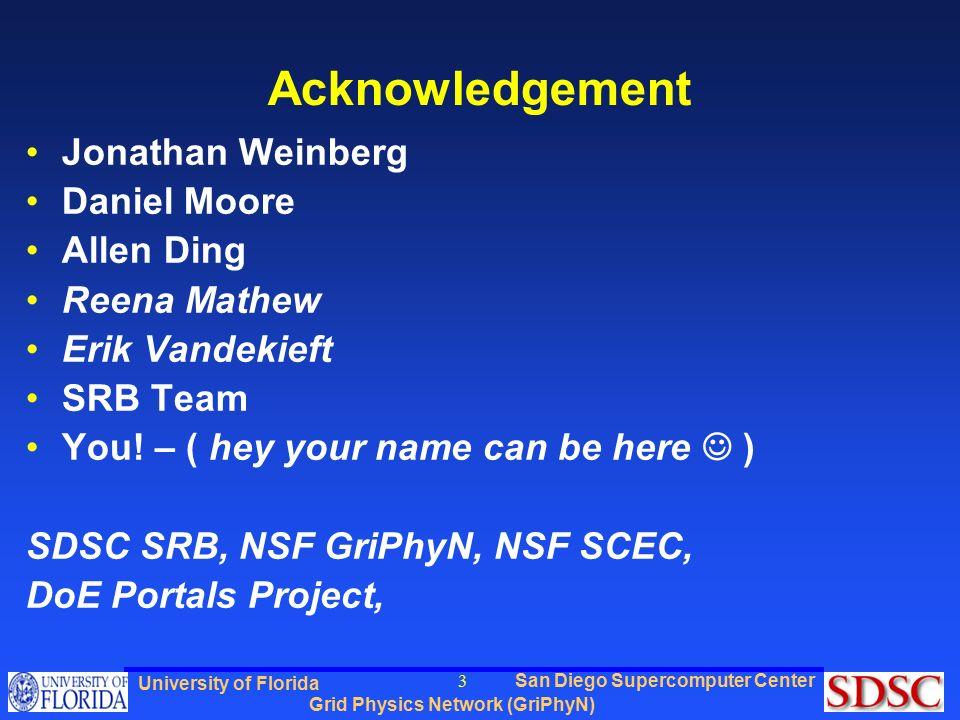 San Diego Supercomputer Center Grid Physics Network (GriPhyN