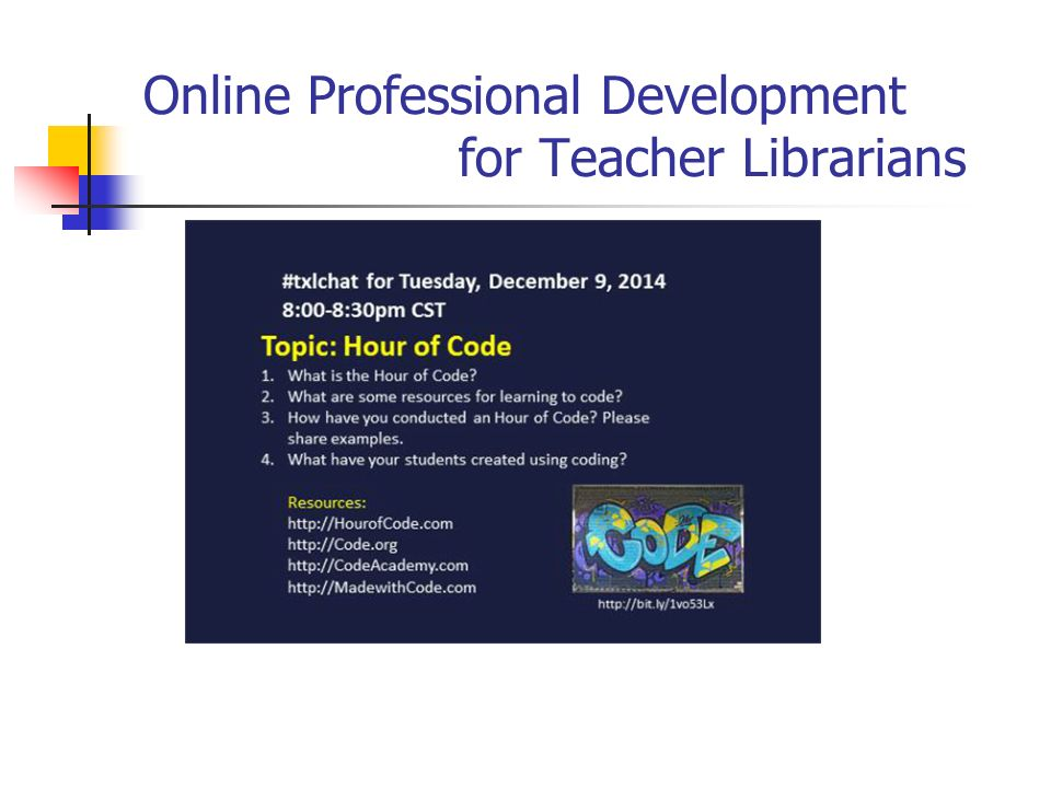 Online Professional Development for Teacher Librarians