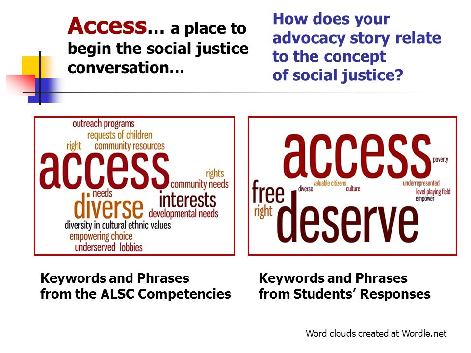 How does your advocacy story relate to the concept of social justice.