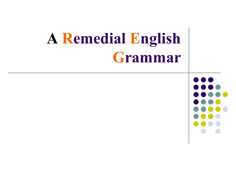 A Remedial English Grammar Chapters Articles Agreement Of Verb And