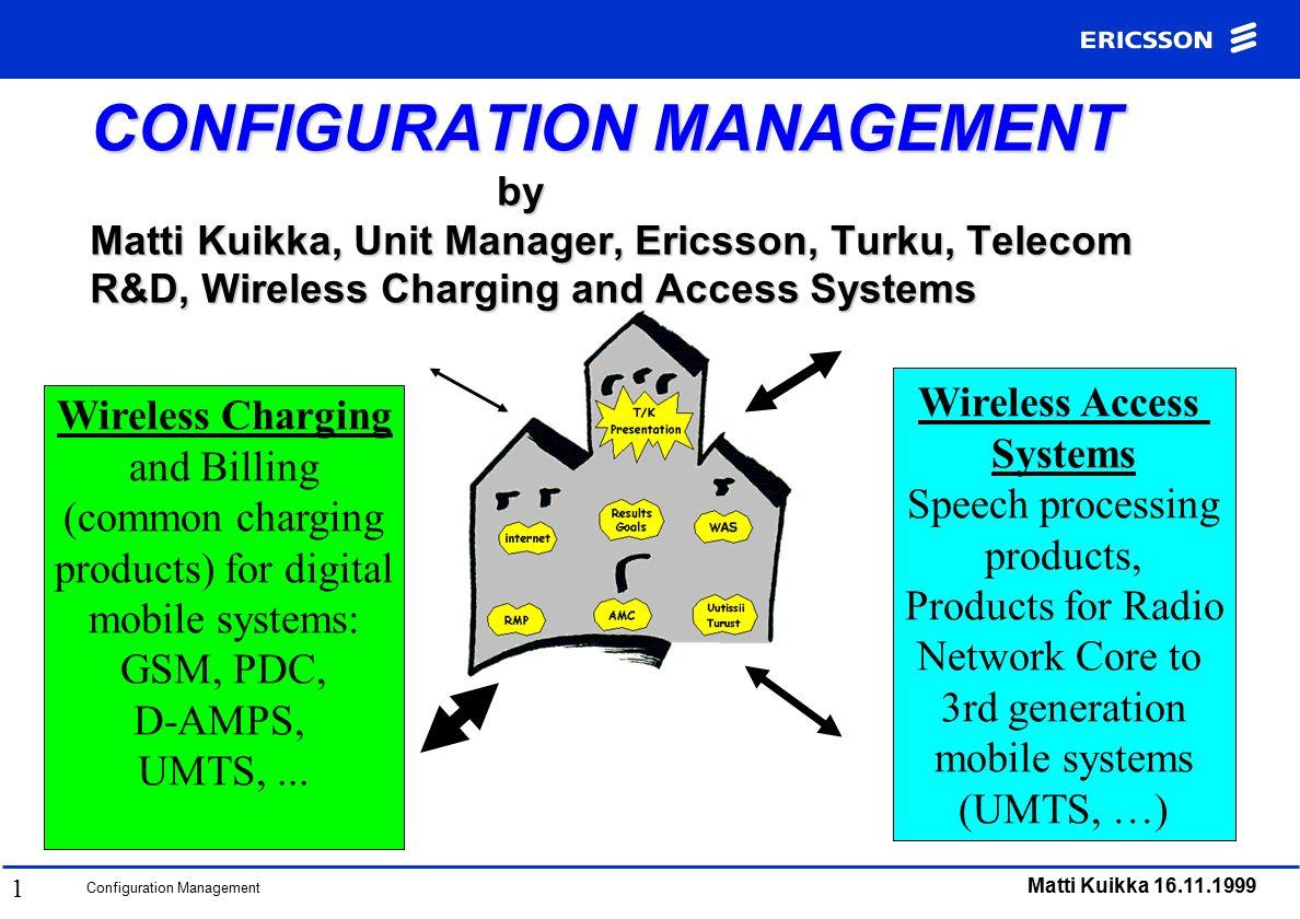 Configuration Management Matti Kuikka CONFIGURATION