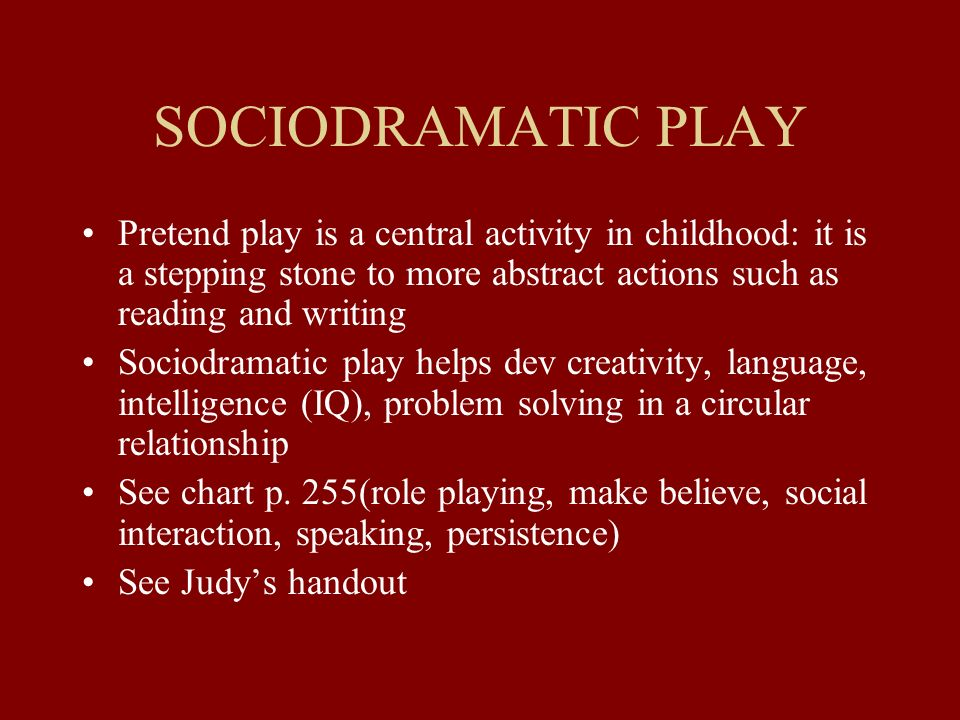 Symbolic Thought Play Language Literacy Chapter Ppt Download