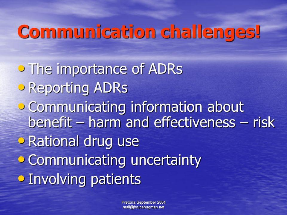 Effective Communications and Pharmacovigilance a