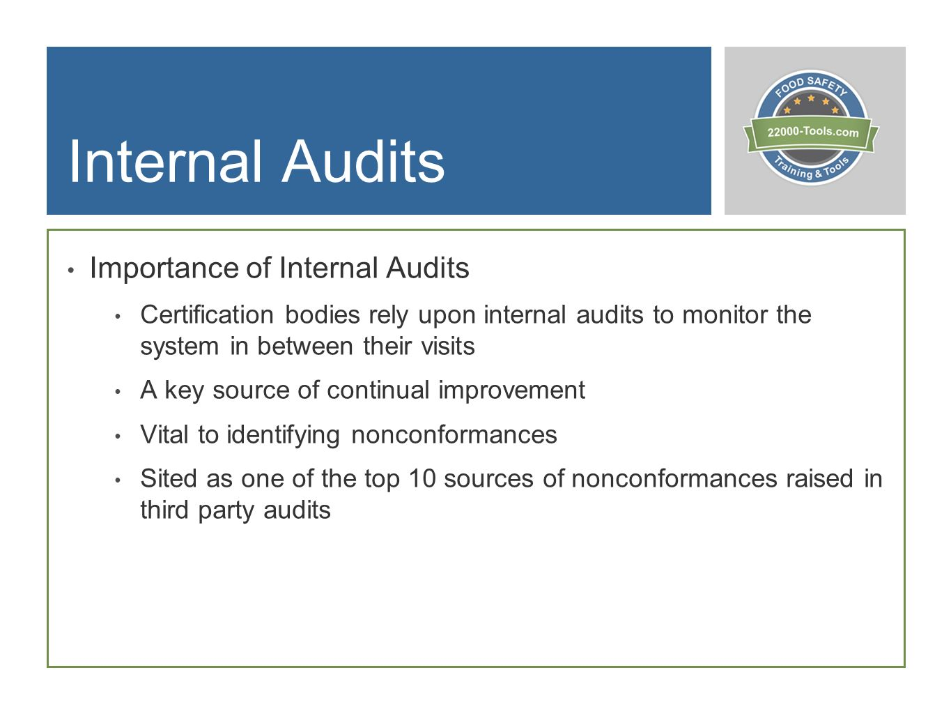 Setting Up An Internal Audit Program By Ppt Download