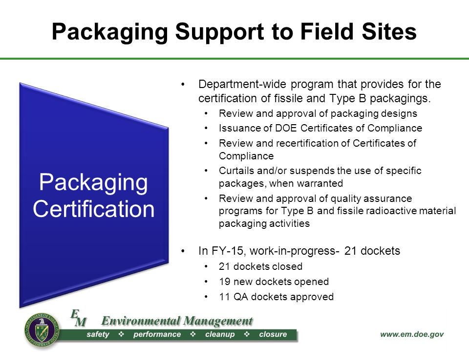 Update On Office Of Packaging And Transportation Activities Ashok