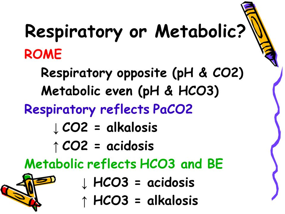 Respiratory or Metabolic.