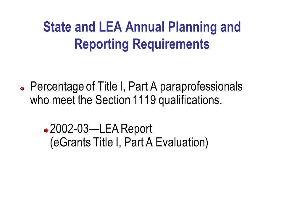 teacher quality & title i paraprofessional qualifications. - ppt ...
